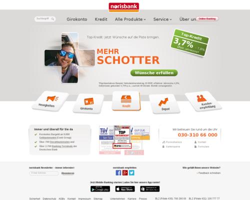 Norisbank Screenshot