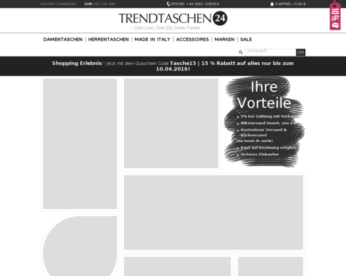 Trendtaschen24 Screenshot