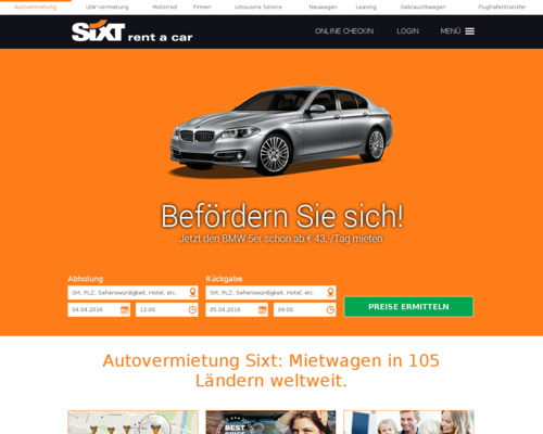 Sixt Screenshot