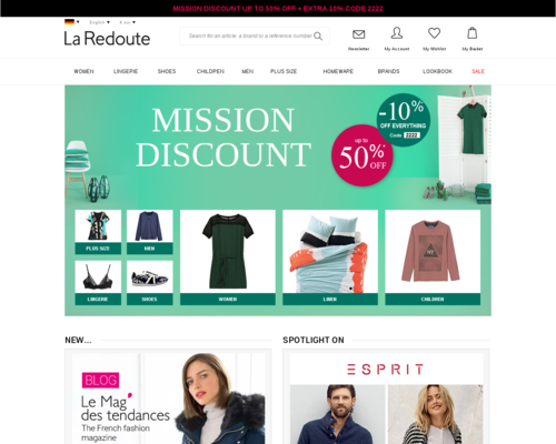 La Redoute Screenshot