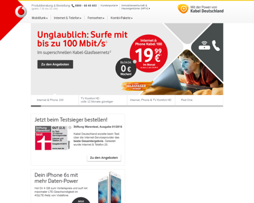 Kabel Deutschland Screenshot