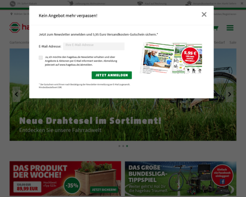 hagebau.de Screenshot