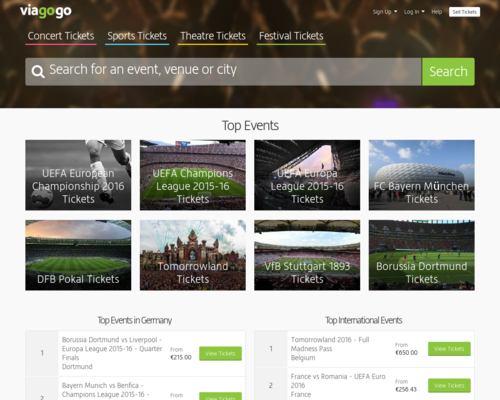 Viagogo Screenshot