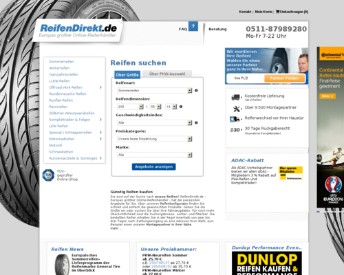Reifendirekt Screenshot