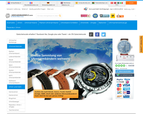 Uhrenarmbandwelt.com Screenshot