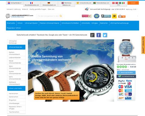 Uhrenarmbandwelt.com Screenshot