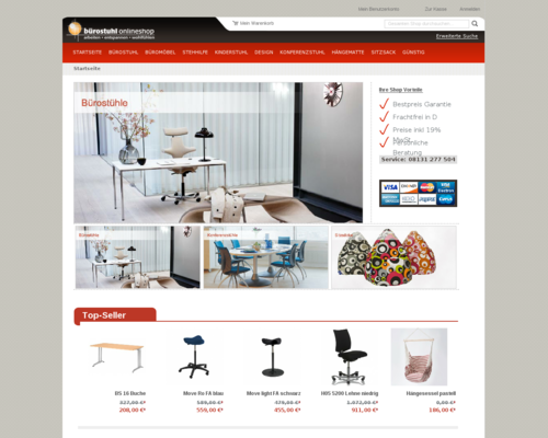 buerostuhl-onlineshop.de Screenshot